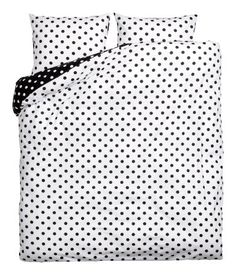 Polka dot duvet cover | Black and White Polka dot Duvet | H&M Home
