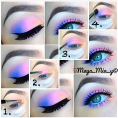 '80s inspired eyeshadow tutorial (Maya_Mia_Y via I Love Cute Shoes)