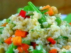 Vegetable Rice Salads with Beans