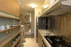 Cozinha do apartamento de 62 m² do Portal do Paço