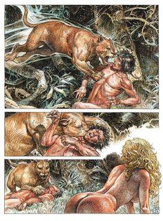 Serpieri, Mirror World Druuna Serpieri, Cowboy Art, Erotic Art, Fantasy, Drawings, Illustration, Painting, Mirror, Books