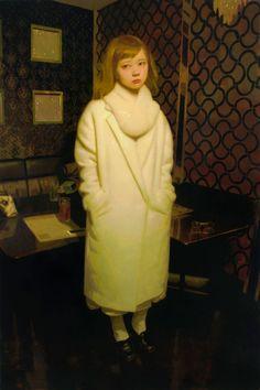 Keita Morimoto, Aya in Tokyo, 2015. Oil on canvas, 72 x 48 in.