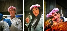 nbchannibal:  Team Sassy Flower Crowns. They do it… for science  #FlowerCrowns #NBC #Hannibal