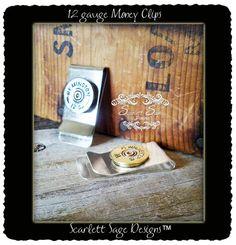 12 gauge Shotgun Mens Money Clip Bullet Jewelry by ScarlettSage, $18.50