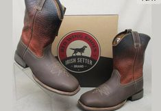 1c9f97778383 Red Wing Irish Setter Men s Deadwood Western Brown Cowboy Boots 4824 Size  9.5  fashion