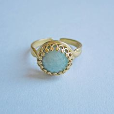 priya amazonite ring by eclectic eccentricity | notonthehighstreet.com