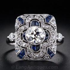 .80 Carat Art Deco Diamond Dinner Ring