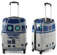 R2D2 rolling luggage