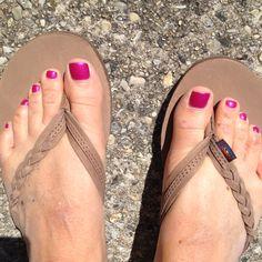 Braided Rainbow Sandals. I'll take a pair of brown & black :)