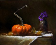 Pumpkin by LOIS EAKIN Oil ~ 8 x 10