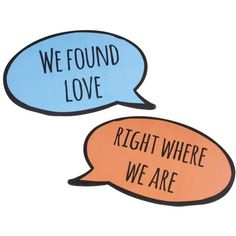 We Found Love Right Where We Are Pair of Wedding Song Lyrics Speech... ($12) ❤ liked on Polyvore featuring home, home decor, wall art, calligraphy wall art, word wall art, photo wall art, text signs and lettering signs