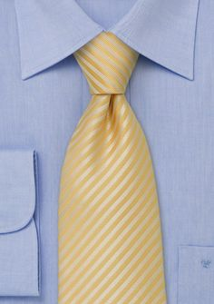 Lots of great tie options! Light Yellow Striped Neck Tie