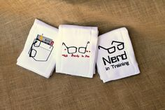 Custom Embroidered Burp Cloth Nerds Set of 3