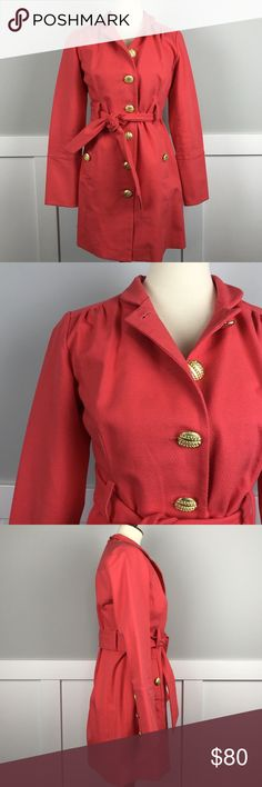 """Anthropologie Beth Bowley Bright Coral Coat This item has been inspected and is in EXCELLENT condition. Smoke free home, but we do have one dog and take pictures on a fur rug. Mannequin is size Medium for reference. All Measurements are taken while item is laid flat:  Bust: 18.5"""" Length: 32.5""""  BUNDLE and SAVE! 10% off 2 items or more.   OFFERS are welcome, we love them!! If you offer and we come back with the same offer twice that is our final price and we cannot go any lower. We ship same…"""
