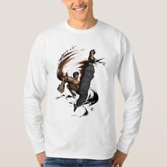 Shop Fei Long High Kick T-Shirt created by streetfighter. Video Game T Shirts, Fitness Models, Kicks, Graphic Sweatshirt, Games, Sweatshirts, Long Sleeve, Casual, Sleeves