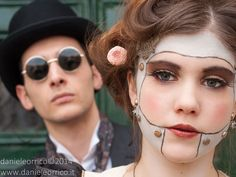 Steamdoll #steampunk makeup by GrimildeMalatesta on deviantART