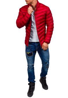 Pánská červená přechodná bunda Bolf 3082