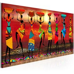 Cuadros Etnicos Tribal African Women Dancing Canvas PrintYou can find Tribal art and more on our website. African Wall Art, African Art Paintings, Dance Paintings, African Prints, African Fabric, Art Mural Africain, Living Room Canvas Painting, Family Painting, Afrique Art