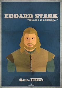 Edward Stark poster #winteriscoming    Game of Thrones   HBO Canada  http://hbocanada.com/gameofthrones