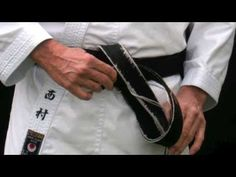 Traditional to tie a Karate Belt & Gi Folding Techniques - YouTube