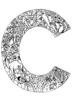 Coloriage alphabet animal c sur Hugolescargot.com - Hugolescargot.com
