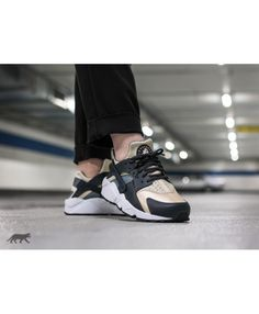 the latest db094 8cbe9 Chaussure Nike Wmns Air Huarache Run Anthracite Oatmeal Cool Grey Black