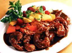 Tamarind Shrimp...$17.99  Shrimp sautéed in bitter-sweet tamarind sauce served with a fruit salad.
