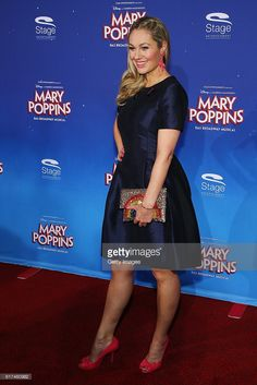 Ruth Moschner attends the red carpet at the premiere of the Mary Poppins musical at Stage Apollo Theater on October 23, 2016 in Stuttgart, Germany.