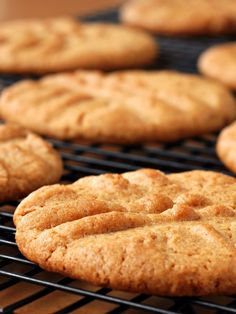 Easy 1-2-3 Ingredient Peanut Butter Cookies with Egg-free, Vegan Pantry Option (naturally dairy-free, gluten-free recipe) via GoDairyFree.org