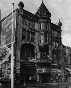 """The Lyceum Theatre, located at 227 South Spring Street, is the second oldest showhouse built in the city. Originally known as the Los Angeles Theater, where stars of yesteryear appeared, the theater will be razed to become a parking lot. Beneath it is one of the original springs from which Spring Street derived its name."" - Los Angeles Herald-Examiner, January 15, 1941 (Source: photos.lapl.org)"