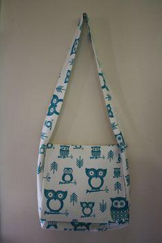 Cute Blue/White Messenger bag #handmade #bag #purse, #sewing