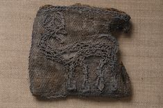 Viking Age embroidery showing a stag (Historiska Museet, Sweden)