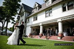 First dance on the lawn at The Inn at Stonecliffe Wedding   Mackinac Island   Photographer photo by inn at stonecliffe mackinac island northern michigan wedding by http://www.paulretherford.com #puremichigan
