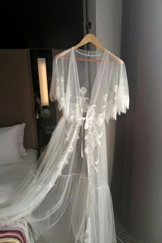 See through Bridal Nightgown with Lace Sheer Lingerie, Bridal Lingerie, Wedding Lingerie, Honeymoon Lingerie, Bridal Shower Gift Wedding Night Lingerie, Honeymoon Lingerie, Wedding Lingerie, Bridal Nightgown, Bridal Robes, Bridal Bra, Pretty Lingerie, Sheer Lingerie, Pijamas Women
