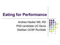 Eating for Performance (Nutrition for Runners)