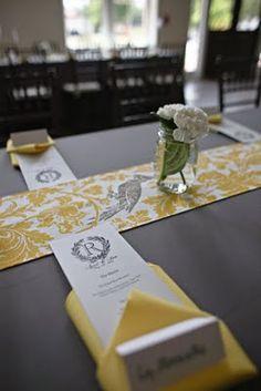 Grey & yellow table