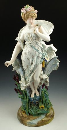 Meissen Lady on a Dragonfly View #1.