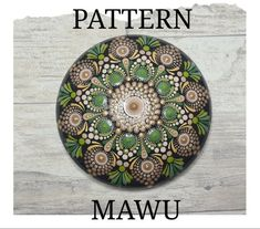 DIGITAL PATTERN FOR Z-DOT DESIGNS 'MAWU ART STONE DOT MANDALA This pattern was created for Intermediate dotters, however the instructions are super easy to follow, so if you're a beginner to the world of dotting, you may just surprise yourself. It contains step by step instructions, including tool Dot Art Painting, Mandala Painting, Painting Patterns, Mandala Art, Mandala Drawing, Art Art, Little Rock, Mandala Pattern, Pattern Art