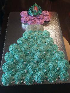 Ariel cupcake dress cake