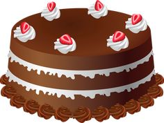 Chocolate Cake Art PNG Large Picture
