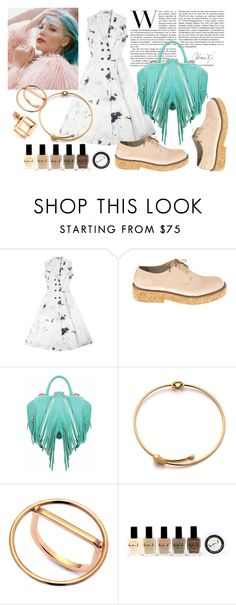 """The Mint Bag Outfit"" by runway2street ❤ liked on Polyvore featuring Ksenia Schnaider, Anouki, The Volon, Caterina Zangrando and Lauren B. Beauty"