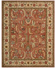 Nourison Area Rug, Created for Macy's, Persian Legacy PL04 Terracotta 5' 6