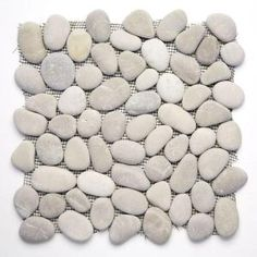 Some kind of pebble tile to cover the cement footings on the deck? Solistone River Rock Brookstone 12 in. x 12 in. x mm Natural Stone Pebble Mosaic Floor and Wall Tile sq. at The Home Depot Pebble Mosaic Tile, Pebble Floor, Pebble Stone, Mosaic Wall, Stone Tiles, Wall Tiles, Room Tiles, Stone Backsplash, Kitchen Backsplash