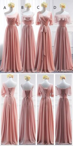 Mismatched Chiffon A-Line Simple Bridesmaid Dress, Lace-Up Floor-length Bride . - Mismatched ChiYou can find Bridesmaid and more on our website.Mismatched Chiffon A-Line Simple Bridesmaid Dress, Lace-Up Floor-length Bri. Mismatched Bridesmaid Dresses, Burgundy Bridesmaid Dresses, Wedding Bridesmaid Dresses, Wedding Party Dresses, Bridesmaid Dresses With Sleeves, Formal Wedding, Lace Wedding, Wedding Attire, Summer Wedding