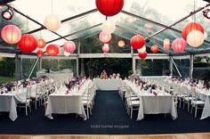 corail et rouge table et salle lanterne corail rouge