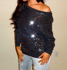 sequin sweater♥