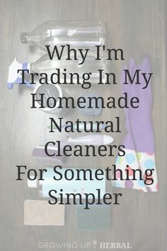 Why I'm Trading In My Homemade Natural Cleaners For Something Simpler - Growing Up Herbal Cleaners Homemade, Diy Cleaners, Household Cleaners, Natural Cleaning Recipes, Natural Cleaning Products, Cleaning Solutions, Cleaning Hacks, Cleaning Supplies, Green Living Tips