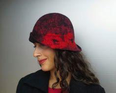 Felt hat hat hat vintage merino wool by CreazioniLanaSeta on Etsy