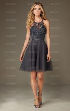Modest Grey Bridesmaid Dress BNNCL0011-Bridesmaid UK