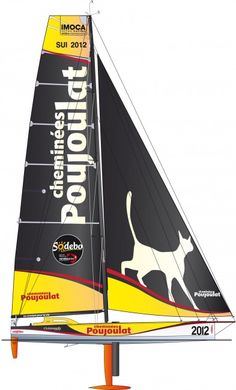 Cheminées Poujoulat - With a new visual design, a new profile and a new designer, Cheminees Poujoulat will definitely not go unnoticed in les Sables d'Olonne. The latest boat designed by Juan Kouyoumdjian attracted the admiration at the 2011 Rolex Fastnet Race (3rd place) and the 2012 Europa Warm'Up (4th). © François Chevalier #VG2012 #VendéeGlobe